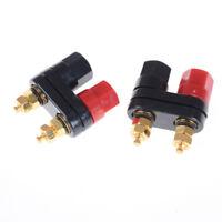 Dual Female Banana Plug Terminal Binding Post for Speaker Amplifiers TS