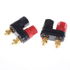 Dual Female Banana Plug Terminal Binding Post for Speaker Amplifiers XR