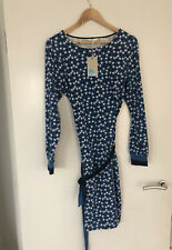 ✨New With Tags Boden Ladies Long Sleeve Floral Navy Blue Dress Size 16 L