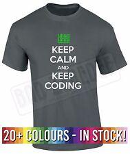 Keep Calm and Keep Coding T Shirt | Funny Geek Programmer Hacker Computer PC