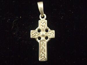 Celtic cross sterling silver charm or small pendant pretty Celtic knot design