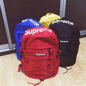 HOT NEW Supreme Backpack Rucksack Designer Brand Bag Unisex Travel Fashion