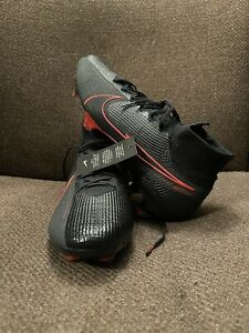 Nike Mercurial Superfly 7 Elite FG Soccer Cleats Black Red Size 11 RETAIL 275