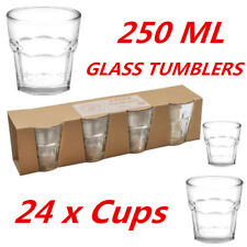 250ml Clear Bulk Glass Tumblers Drinking Cup Scotch Whisky Glasses Party Event