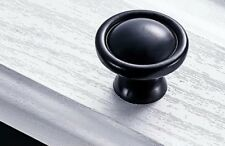 10x Black Metal Drawer Door Handle Knob Pull - Antique Vintage Style #2