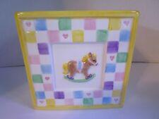NAPCO Ceramic Planter Vintage Nursery Baby's Room Supply Holder Bunny Horse