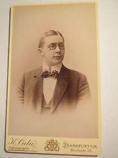 FRANKFURT AM MAIN - 1898-Ernst BLANC comme un homme avec combinaisons-portrait/CDV