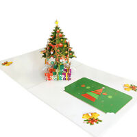 3D Greeting Cards Merry Christmas Festival Card Holiday Gift New Years Cards