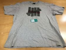 Undefeated UNDFTD 5 Strikes Halftone No Mercy Tee Shirt Grey Black Red Sz XL