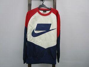 Nike Oversized 100% Nylon Colour Blocked & Logo Sweatshirt Mens Sz XL RRP$100