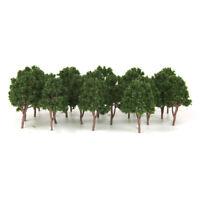 20PCS Dark Green Model Trees N Scale Train Layouts Railroad Wargame Scenery