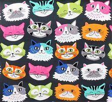 Nice Cats Patchwork Patchworkstoffe Stoffe Katzen Baumwollstoff Tiermotive Tiere