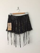 One Teaspoon Cowboy Romeos **NEW W TAGS $140**Black Leather Removable Tassels 29