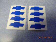 "SET OF 8  BLUE  CHEVROLET BOWTIE WHEEL / RIM VINYL CENTER CAP LOGO DECALS 1.25"""