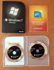 Genuine Microsoft Windows 7 Ultimate Full UK Retail 32 & 64-bit DVDs Product Key