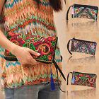Retro Flower Clutch Bag Hmong Tribe Handmade Ethnic Purse Thai Bohemian Handbag