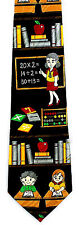 Arithmetic Teacher Mens Necktie Math Abacus Elementary Novelty Neck Tie Gift New