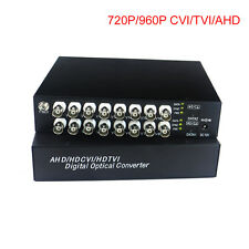 HD 16ch Video Fiber Optical Media Converters  for HD CCTV 960p/720p CVI TVI AHD