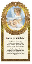 PRAYERS FOR A BABY BOY WOODEN BEDROOM PLAQUE - CANDLES STATUES PICTURES LISTED