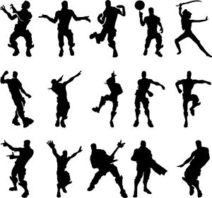 15 x Dancing Fort nite inspired men stickers decal, game, floss, dab, ps4 xbox