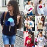 Fashion Womens Long Sleeve Casual Loose Pullover Sweater Tops Jumper Knitwear