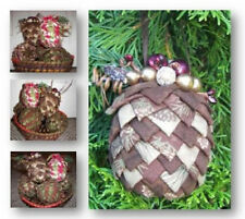 Easy New Pattern  FOLDED FABRIC PINE CONE  Christmas Ornament