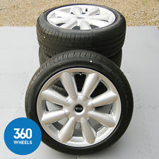 "GENUINE MINI COUNTRYMAN 18"" R126 TURBO FAN ALLOY WHEELS TYRES DELIVERY MILEAGE"