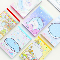 N Times Kawaii Folding Gift Sticky Notepad Memo Pad Bookmark Whale Series