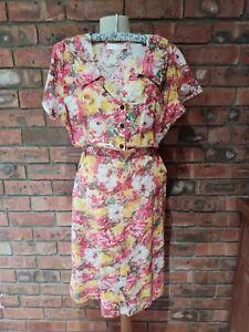 Original Vintage 40s/ 50s Embassy Brand Cotton Floral Dress XW Size XL