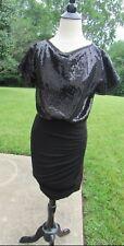 Women's BCBG Black Sequin Dress Size Small
