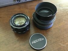 Pentax 50mm F/1.4 Super Takumar Prime Lens With Metal Hood Smooth As Silk