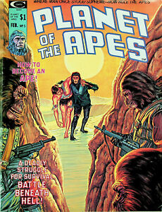 Planet of the Apes #5 (Feb 1975, Curtis) - Fine