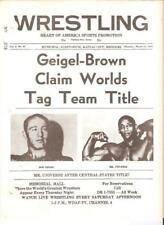 NWA Geigel wrestling program WWWF 1967 Duncum Pear Mills Donovan Maynard Rivera
