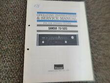 Original Service Manual Schaltplan Sansui  TU-505