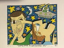 "James Rizzi: original 3D, ""SOMEONE IS WATCHING US"", FUNNY FACES handsigniert, 97"
