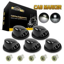 For 69-87 Chevy/GMC Smoke Lens Cab Roof Clearance Lamp+2825 3020 White LED 5 Set
