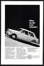 1965 Vintage MG Sports Sedan Car Photo vintage print ad