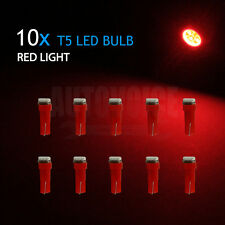 10x T5 5050 Red SMD LED Dash Wedge Instrument Panel Dashboard Gauge Wedge Lights