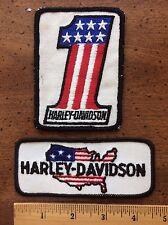 Vintage 60-70's Harley Davidson Patch Lot Motorcycle HOG USA Flag Evel Knevel #1
