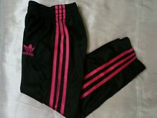 ADIDAS BLACK GIRLS JOGGERS ACTIVE CASUAL WEAR SIZE 152