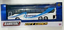 Teamsters City Coach Blue Toy for Age 3 Kids Airport Diecast Vehicles 1 50