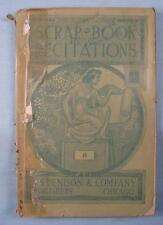 Scrap Book Recitations No 8 Sopers Patriotic Speaker Antique Book 1890 (O) AS IS