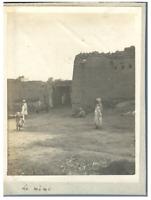 Algérie, El Kantara (القنطرة), Un village  Vintage silver print.  Tirage argen