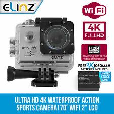 "Elinz Waterproof Action Cam UHD 4K Sport Video Camera Camcorder 1080P WiFi 2"""