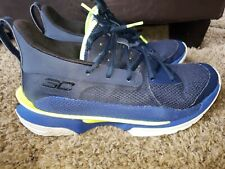 Under Armour Curry 7 Dub Nation Adult Basketball Shoes Blue Size 8 M 9.5 W