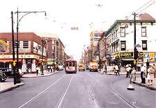 1945 MODERN Post Card Modern NYC GREENPOINT Manhattan TROLLEY Brooklyn AMAZING