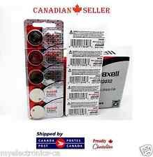 10 PC Genuine Maxell CR2032 DL2032 2032 3V Micro Lithium SB-T51 Watch Battery