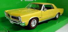 Nex 1/24 Scale 22092 1965 Pontiac GTO Yellow / Gold Diecast model Car