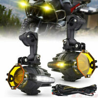 Pair Motorcycle LED Auxiliary Fog Light Spot Driving Lamp for BMW F800GS R1200GS