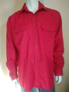 JUST COUNTRY Evan mens size Large shirt red work long sleeve 100% cotton